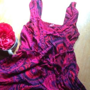 Pink and purple sundress size XL